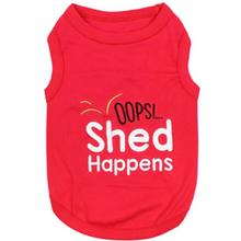 Shed Happens Dog Tank by Parisian Pet - Red