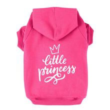 Little Princess Dog Hoodie - Bright Pink