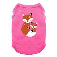 Cuddling Foxes Dog Shirt - Bright Pink