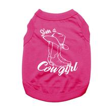 I'm a Cowgirl Dog Shirt - Raspberry