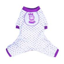 Hippo Dog Pajamas by Pooch Outfitters - Purple