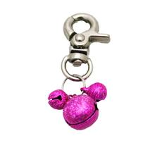 Lobster Claw Bell Collar Charm - Bright Pink