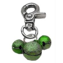 Lobster Claw Bell Collar Charm - Emerald Green