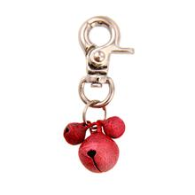 Lobster Claw Bell Collar Charm - Red