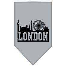 London Skyline Dog Bandana - Gray