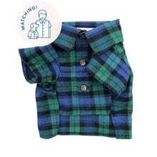 Lonesome Pine Flannel Dog Shirt by Dog Threads