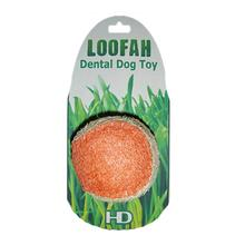 Loofah Dental Ball Dog Toy by Hip Doggie