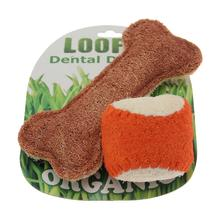 Loofah Dental Dog Toy Combo - Ball & Bone