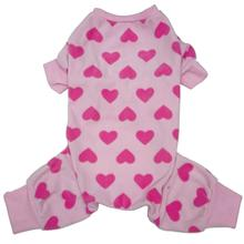 Lookin' Good Heart Dog Pajamas - Pink