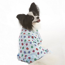 Lookin' Good Owl Print Dog Pajamas - Blue