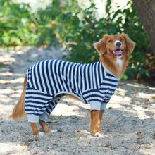 Lookin' Good Striped Dog Pajamas - Blue