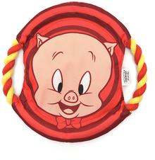 Looney Tunes Porky Pig Rope Frisbee Dog Toy