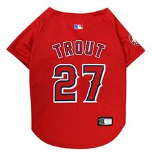 Los Angeles Angels Mike Trout Dog Jersey - Red