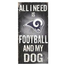 Los Angeles Rams Football and My Dog Wood Sign