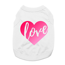 Love Heart Dog Shirt - White