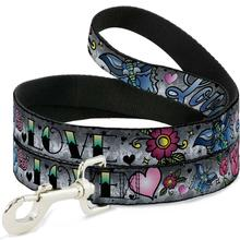 Love Love Dog Leash by Buckle-Down - Gray