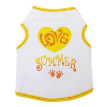 Love Summer Dog Tank - White
