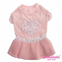 Lovesome Dog Dress by Pinkaholic - Pink