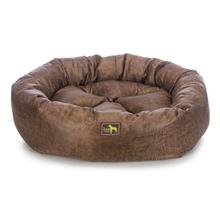 Luca Nest Dog Bed - Toffee Faux Leather