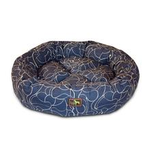 Luca Nest Dog Bed - Scribble Indigo