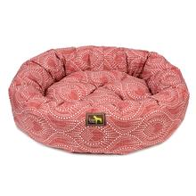 Luca Nest Dog Bed - Scarlet
