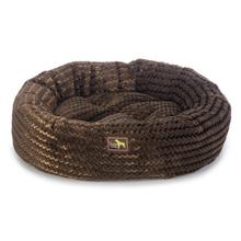 Luca Nest Plush Dog Bed - Chocolate Swirl