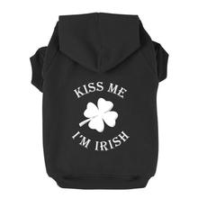 Kiss Me I'm Irish Dog Hoodie - Black