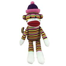 Lulubelles Power Plush Dog Toy - Sock Monkey Louie