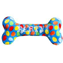 Lulubelles Power Plush Dog Toy - Party Time Blue Bone