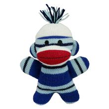 Lulubelles Power Plush Dog Toy - Sock Monkey Baby Mikey
