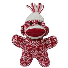 Lulubelles Power Plush Holiday Dog Toy - Crystal the Red Sock Monkey