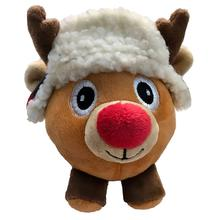 Lulubelles Power Plush Lil' Feet Holiday Dog Toy - Nutmeg Reindeer