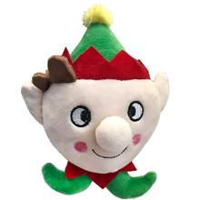 Lulubelles Power Plush Lil' Feet Holiday Dog Toy - Skittle Elf