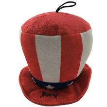 Lulubelles Power Plush Patriot Hat Dog Toy