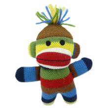 Lulubelles Power Plush Dog Toy - Sock Monkey Baby Ziggy