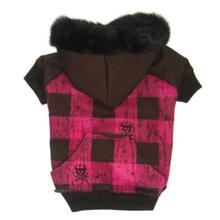 Lumberchic Dog Hoodie - Brown