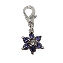 Luxe Flower D-Ring Pet Collar Charm by foufou Dog - Lilac