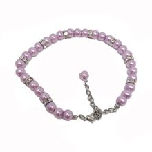 Luxe Pearl Dog Necklace - Lilac