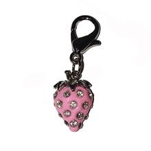 Luxe Strawberry D-Ring Pet Collar Charm by foufou Dog - Pink