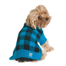 Mad for Plaid Dog Sweater - Turquoise