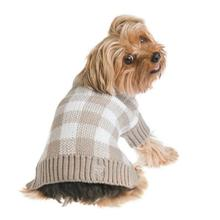 Mad for Plaid Dog Sweater - Gray