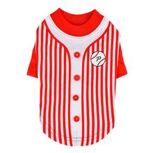 Major Baseball Dog Jersey by Puppia - Red