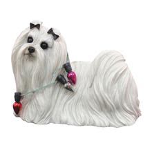 Maltese with Lights Strand Christmas Ornament
