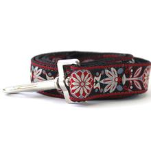 Mandala Star Carnelian Red Dog Leash by Diva Dog