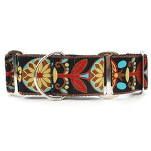 Mandala Star Wide Martingale Dog Collar by Diva Dog - Parisian Deco