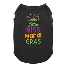 Little Miss Mardi Gras Dog Shirt - Black