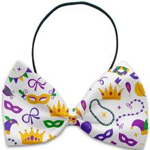 Mardi Gras Masks Dog Bow Tie