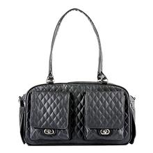 Marlee Quilted Dog Carrier by Petote - Black