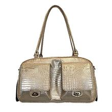 Marlee Dog Carrier by Petote - Gold Croco