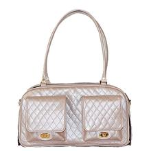 Marlee Quilted Dog Carrier by Petote - Petal Pink